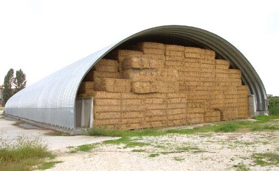 Tunnel per rotoballe