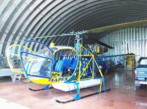 un hangar...
